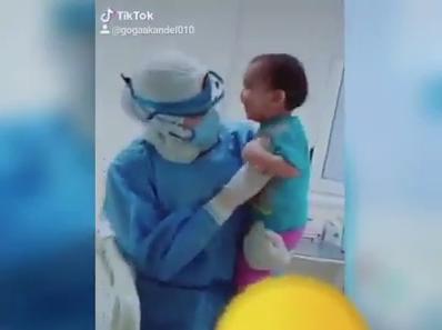 الطفل سيد المصاب بكورونا بمستشفى ناصر العام