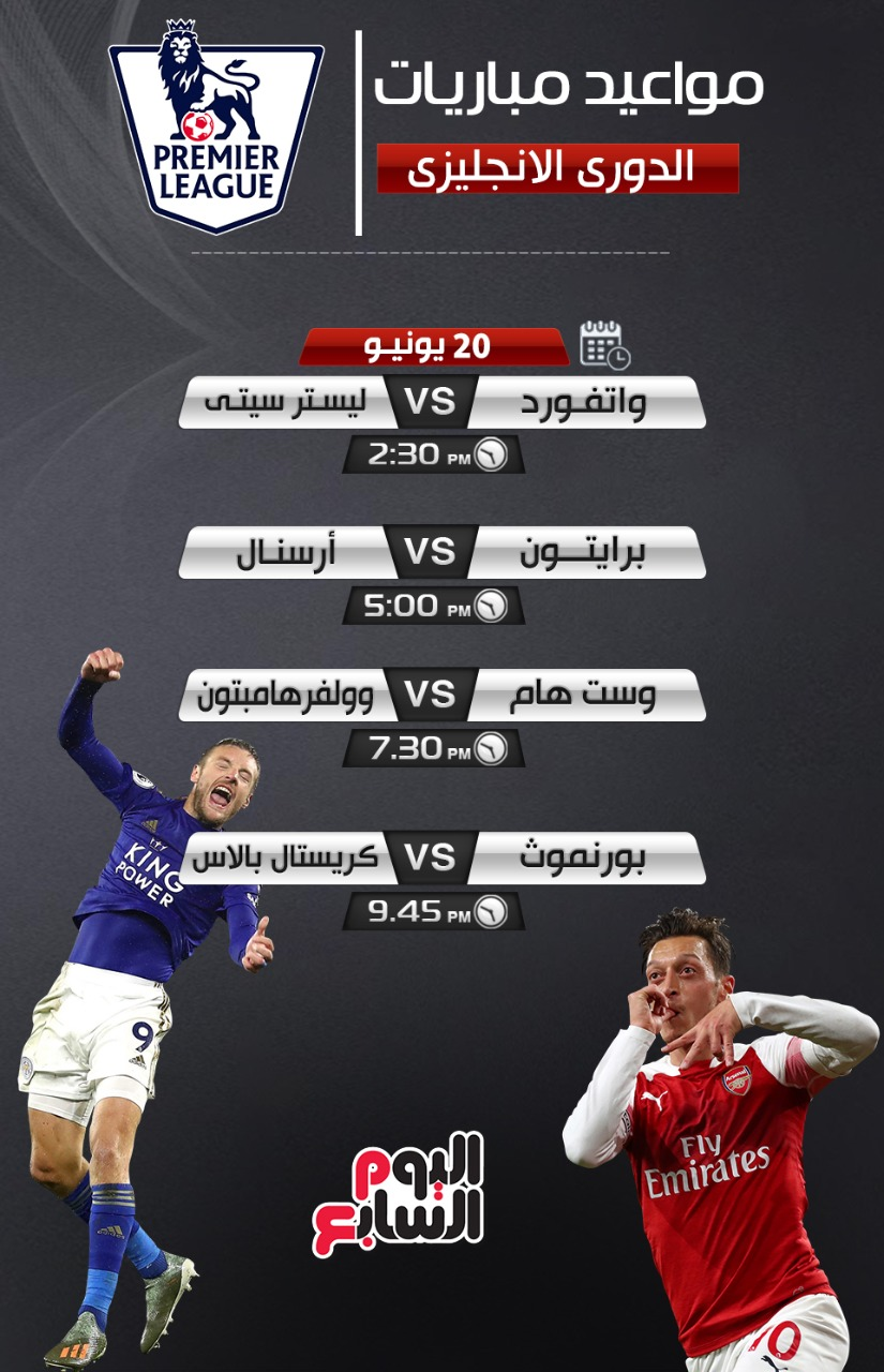 مواعيد مباريات الدورى الانجليزي 2