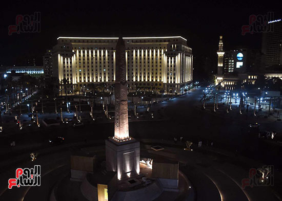 ميدان التحرير بعد إضاءته وتطويره (9)
