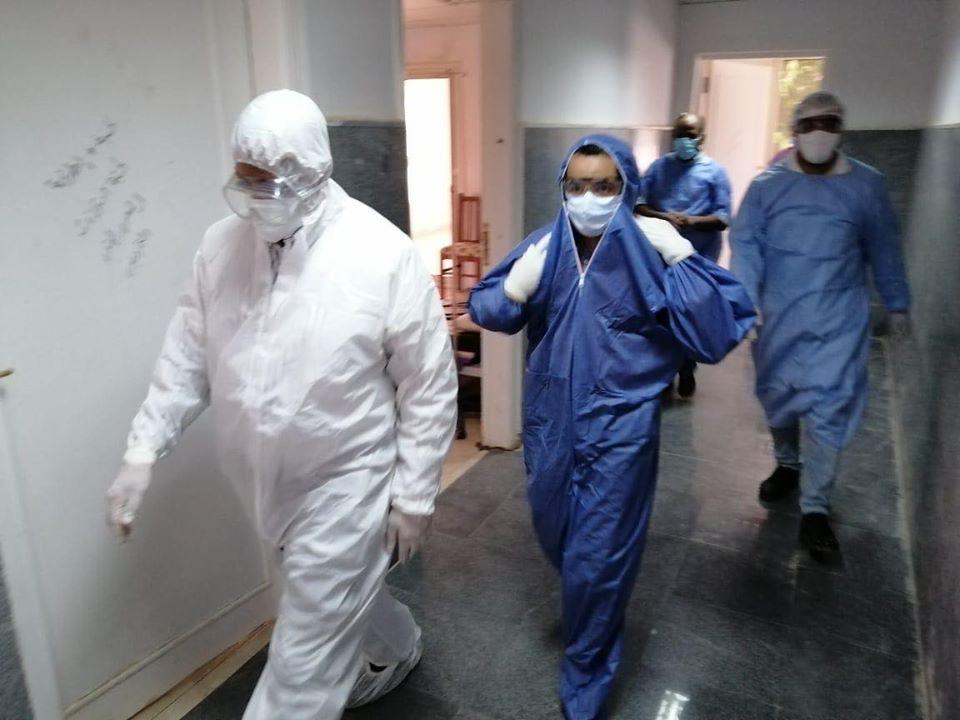 جولة داخل مستشفى الحميات للإطمئنان على خدمة المصابين