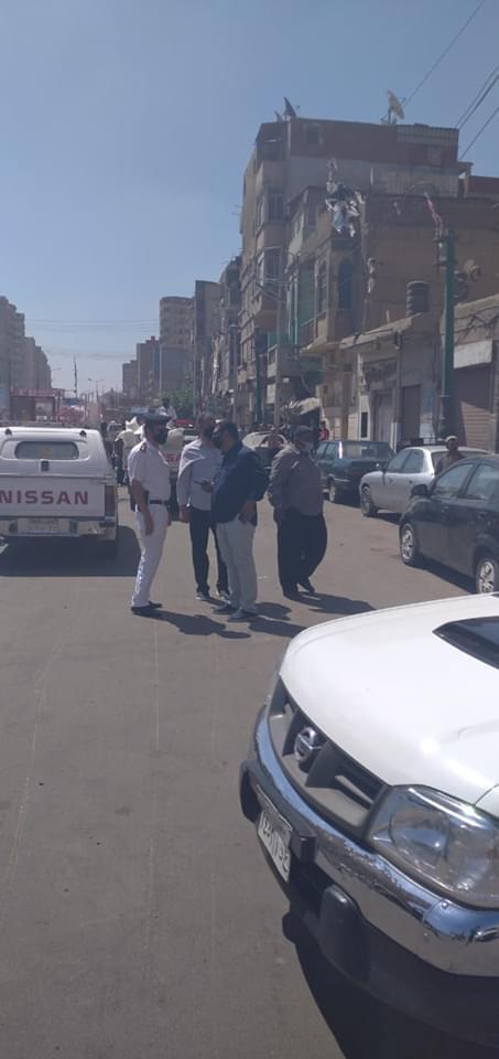 حملة لإزالة ورفع الإشغالات بشارع الجلاء فى طنطا (3)
