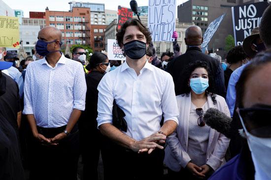 جاستن ترودو رئيس الوزراء الكندى يشارك فى المسيرة