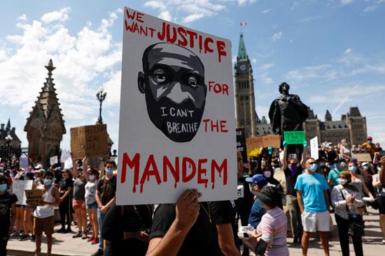 جانب من الاحتجاج فى كندا