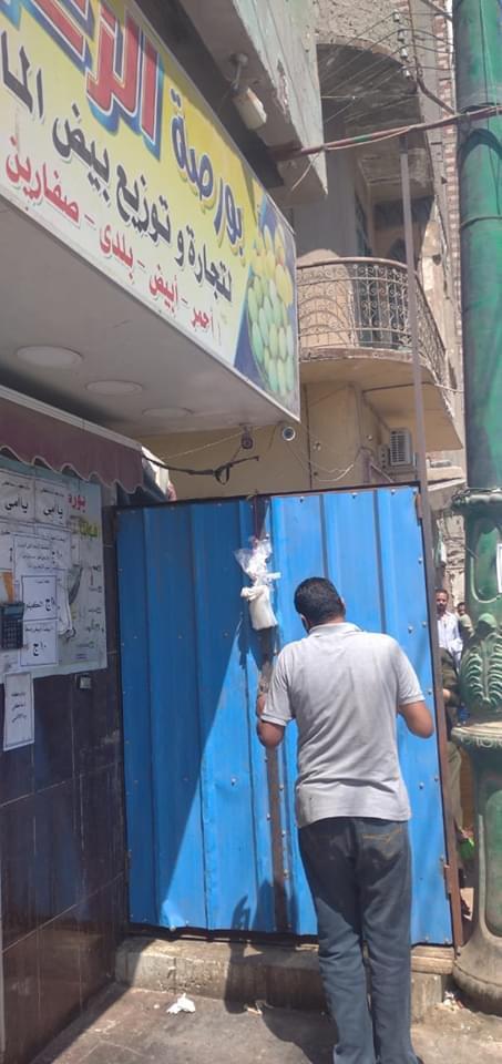 حملة لإزالة ورفع الإشغالات بشارع الجلاء فى طنطا (2)