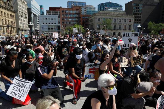 مظاهرة ضد العنصرية فى كندا