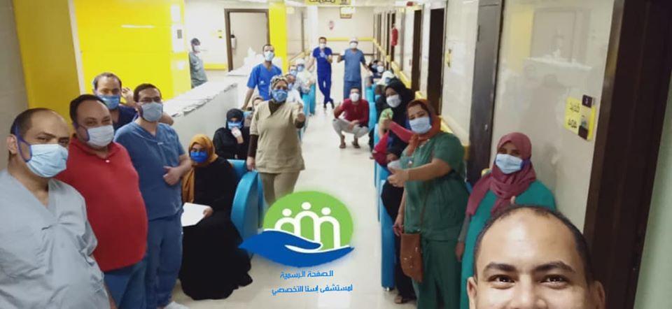 خروج 23 حالة تعافى بين المصابين بنجاح كبير