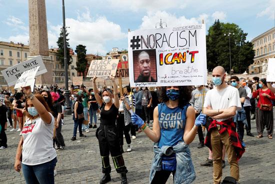 جانب من مظاهرات روما