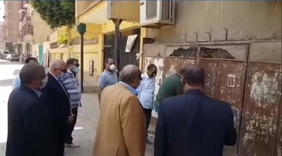 محافظ الجيزة يقود حملة لفتح الجراجات المغلقه (1)
