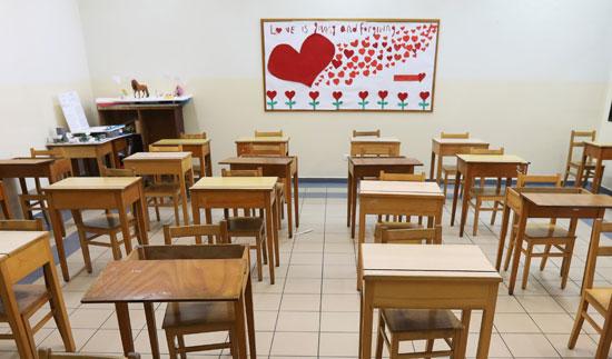 الفصول الدراسية خالية مع أزمة كورونا