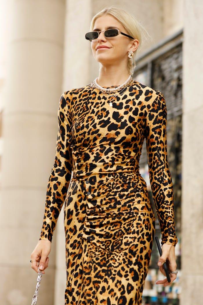 فستان جلد النمر