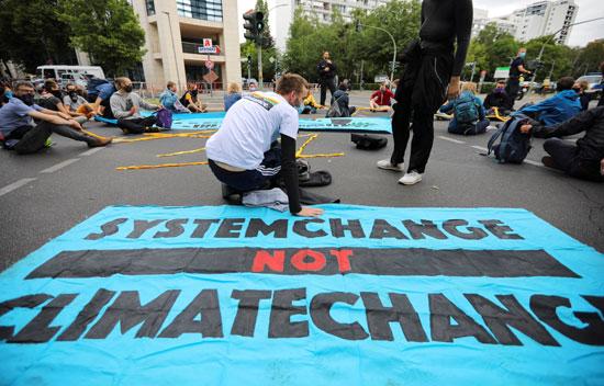 احتجاجات ضد التغير المناخى