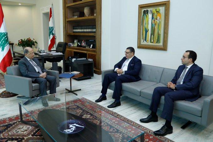 ميشال عون والسفير المصرى بلبان