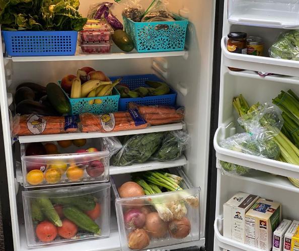 داخل الثلاجة