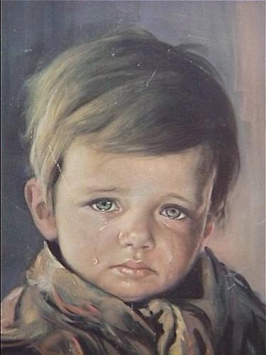 لوحه الطفل الباكى