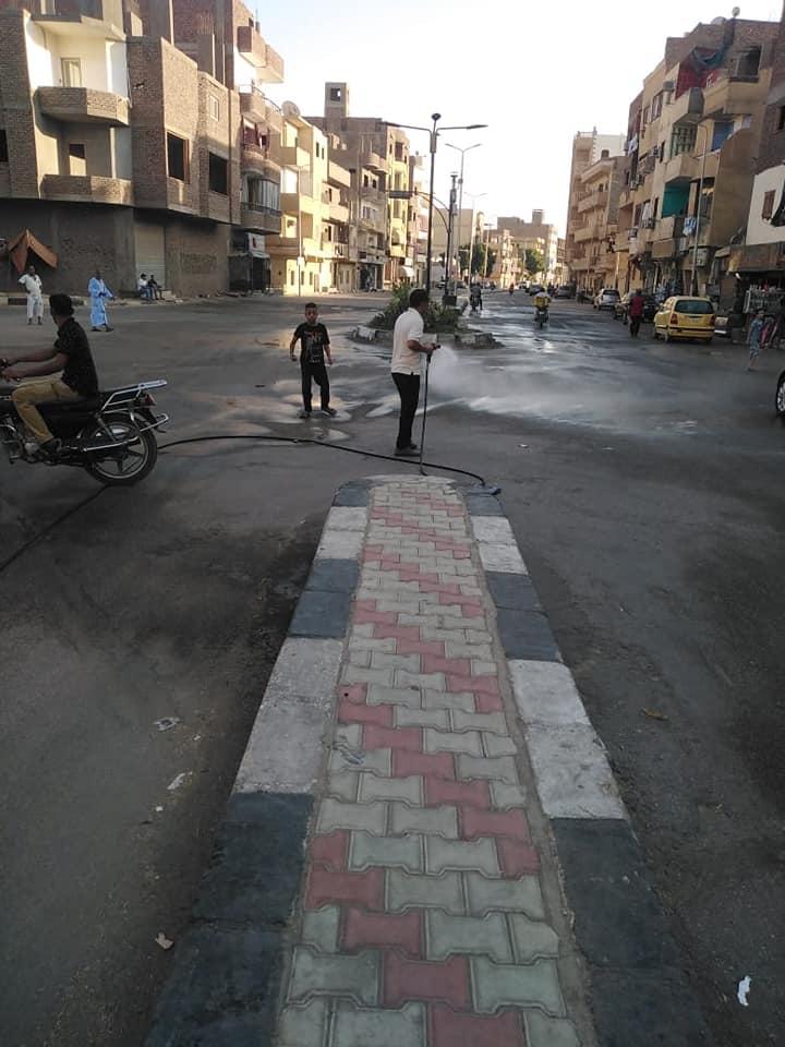 مدينة الأقصر تستكمل حملات النظافة بطريق الجولى فيل بالعوامية (3)