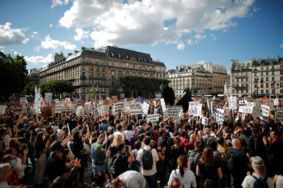 جانب من الوقفة الاحتجاجية