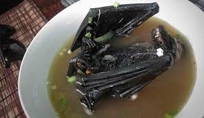 شكل الخفاش بعد الطهى