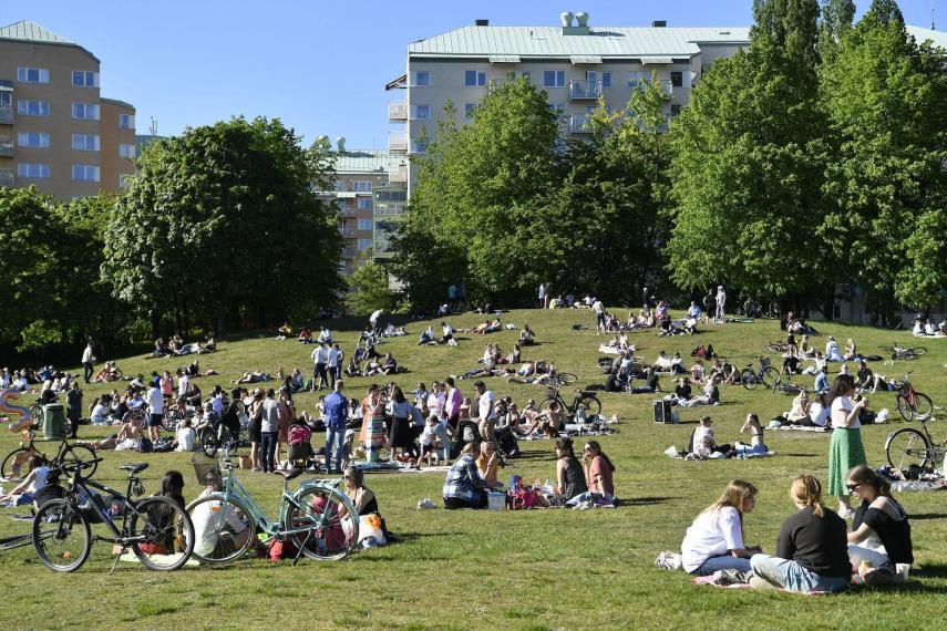 السويد والاستمتاع بالحدائق