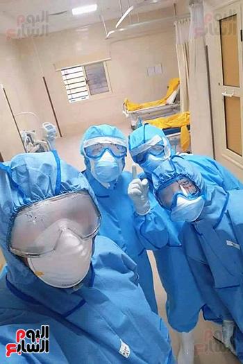 الأطقم الطبية بعزل بلطيم يواصلون العمل لخدمة حالات كورونا (15)