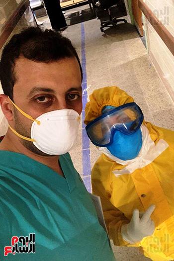 الأطقم الطبية بعزل بلطيم يواصلون العمل لخدمة حالات كورونا (4)