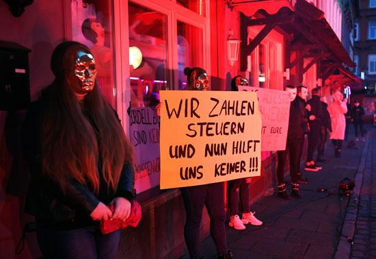 مشاركة العاملات بالدعارة فى التظاهرات فى هامبورج