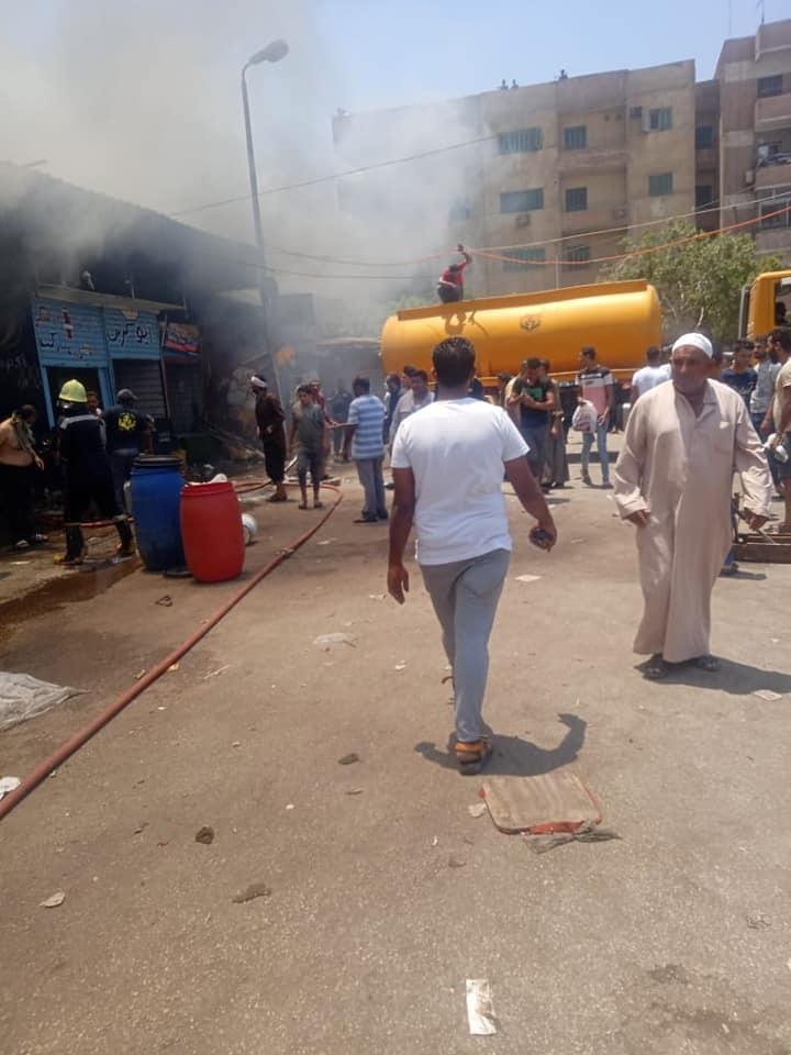 حريق سوق توشكى  (2)