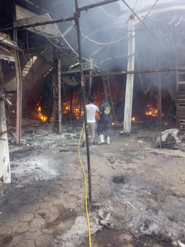 حريق محلات حلوان