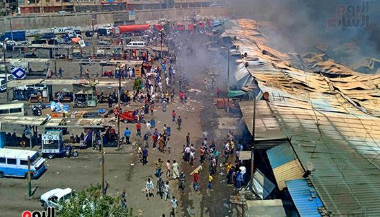 حريق سوق توشكى (1)
