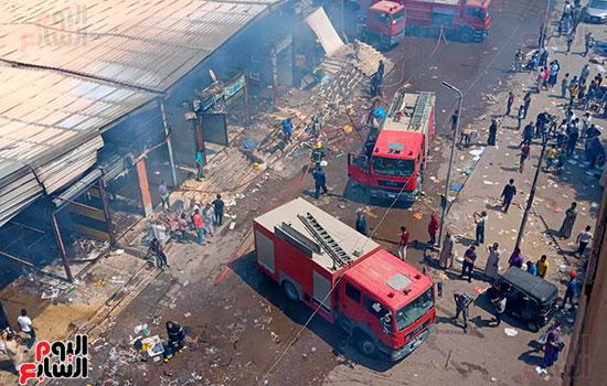 حريق سوق توشكى (9)