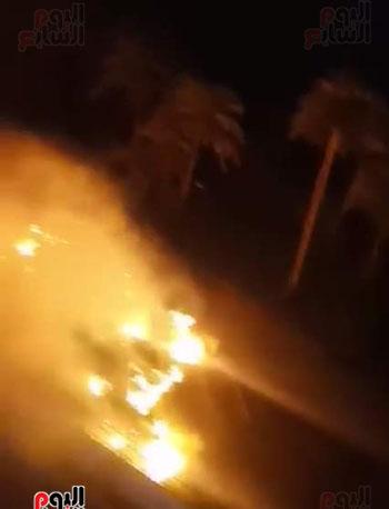 حريق بجوار كلية الزراعة (1)