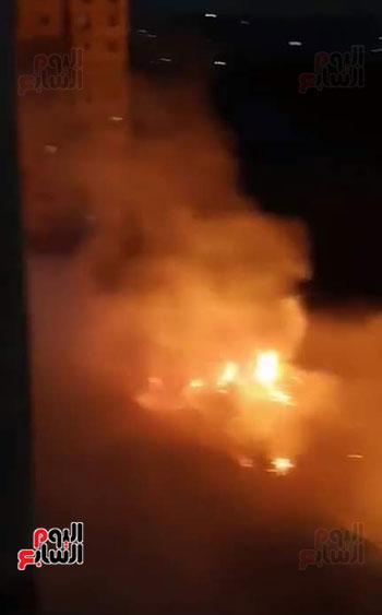 حريق بجوار كلية الزراعة (3)