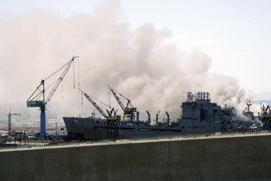 انفجار  فى سفينة بونهوم ريتشارد