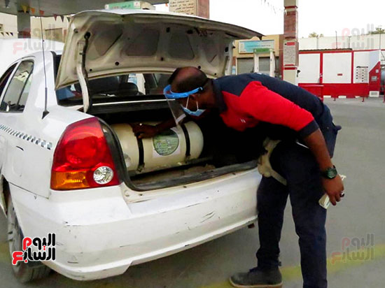 الغاز موفر لسيارات الاجرة
