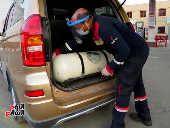 تركيب اسطونة الغاز