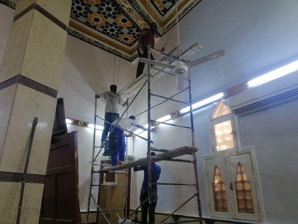 إمام مسجد صلاح الدين بمدينة الأقصر يكشف تفاصيل التجديدات خ (5)