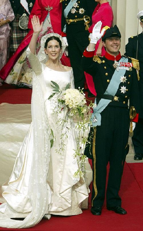 ماري دونالدسون من فستان زفاف الدنمارك
