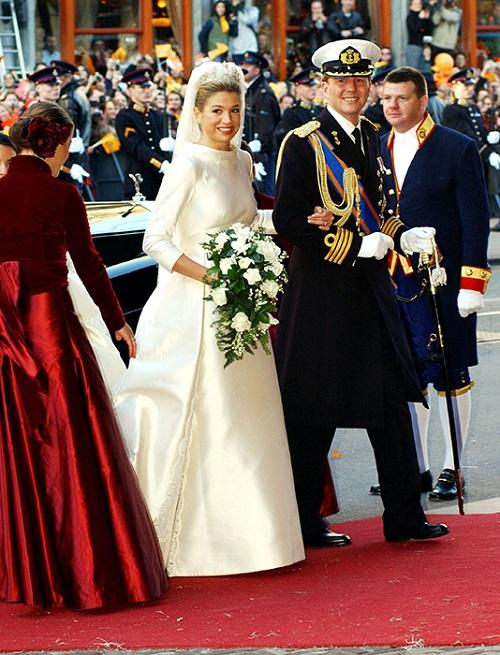 فستان زفاف الملكة ماكسيما من هولندا