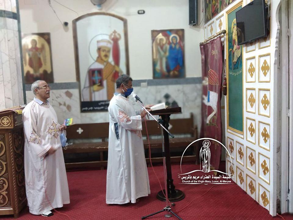 كنيسة العذراء مريم بالمريس غرب الأقصر تقيم القداس الإلهى صباحاً  (9)