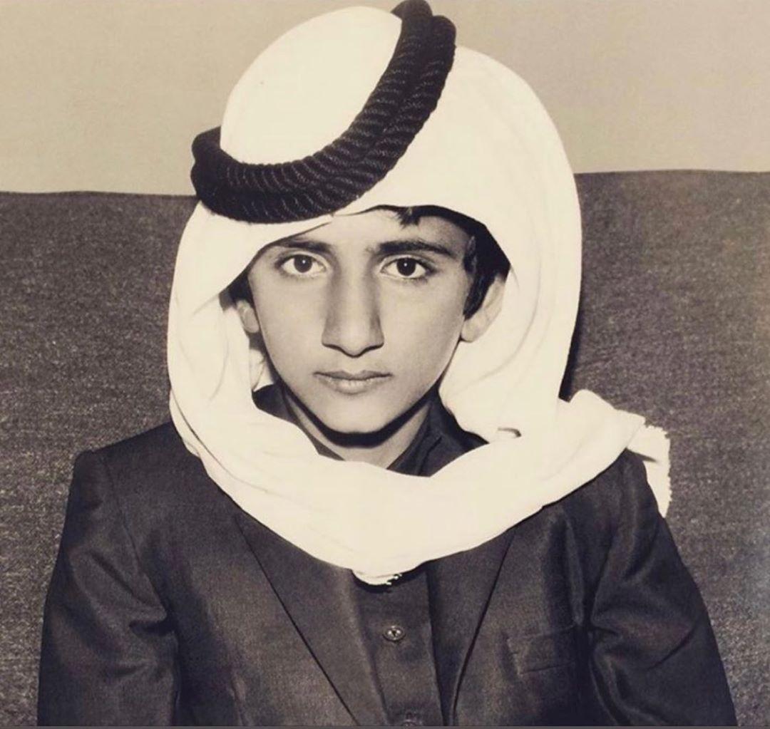 الشيخ محمد بن راشد فى طفولته
