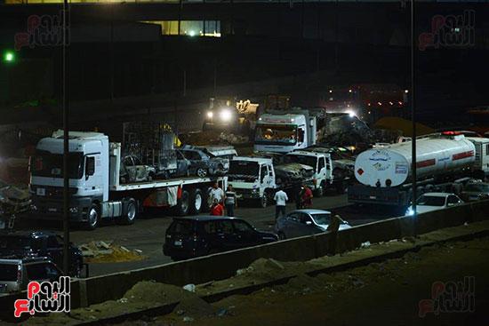 أعمال الإصلاح والصيانة لموقع حريق خط بترول الإسماعيلية الصحراوى (5)