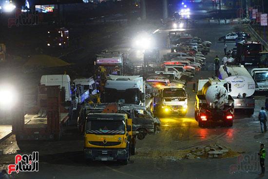 أعمال الإصلاح والصيانة لموقع حريق خط بترول الإسماعيلية الصحراوى (8)