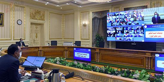 اجتماع مجلس الوزراء عبر تقنية الفيديو كونفرانس (8)