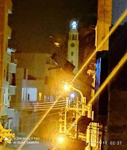 الصورة المتداولة لظهور السيدة العذراء على منارة كنيسة دير مواس 