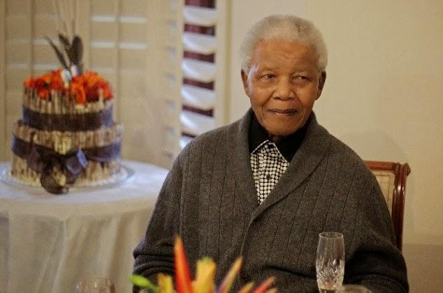 مانديلا اثناء مرضه