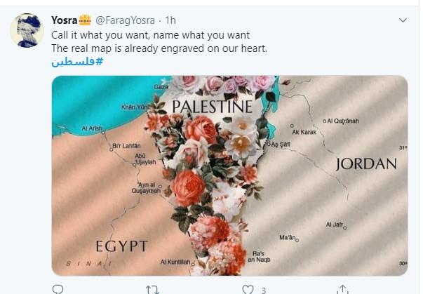 بعد حذف فلسطين من خرائط جوجل مغردون الخريطة الحقيقية محفورة على