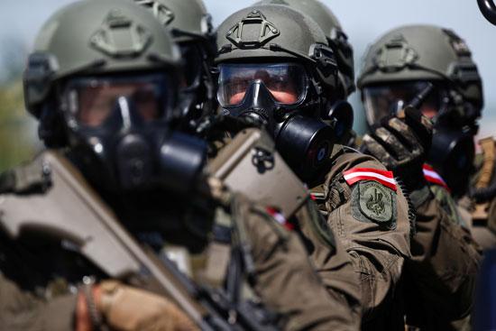 مشاركة القوات المسلحة فى التدريب