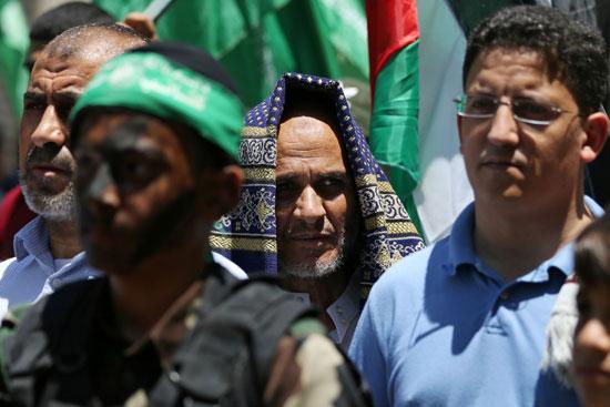 جانب من مظاهرات الفلسطينيين ضد خطة الاحتلال