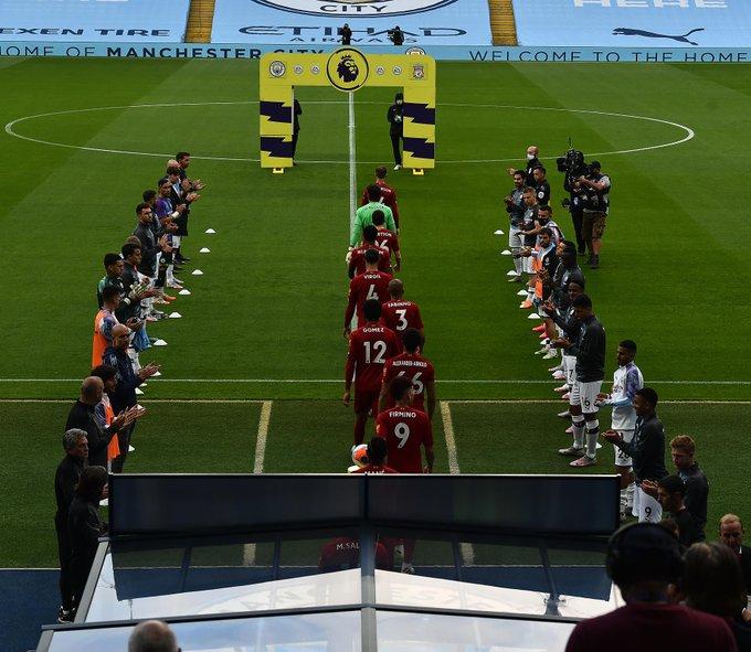 الممر الشرفي قبل المباراة