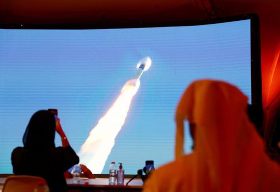 انطلاق الصاروخ تجاه المريخ