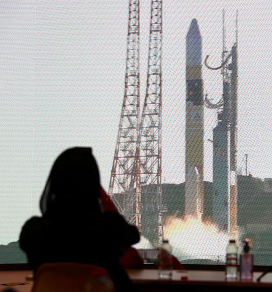 انطلاق الصاروخ إلى المريخ